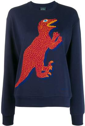 Paul Smith dinosaur embroidered sweater