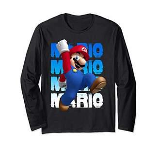Nintendo Super Mario Gradient Distress Jump Long Sleeve Tee