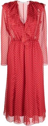 Philosophy di Lorenzo Serafini Polka Dot-Print Midi Dress