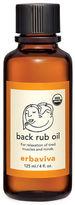 Erbaviva Organic Back Rub Oil- 4 oz.