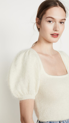 JoosTricot Puff Sleeve Mohair Sweater