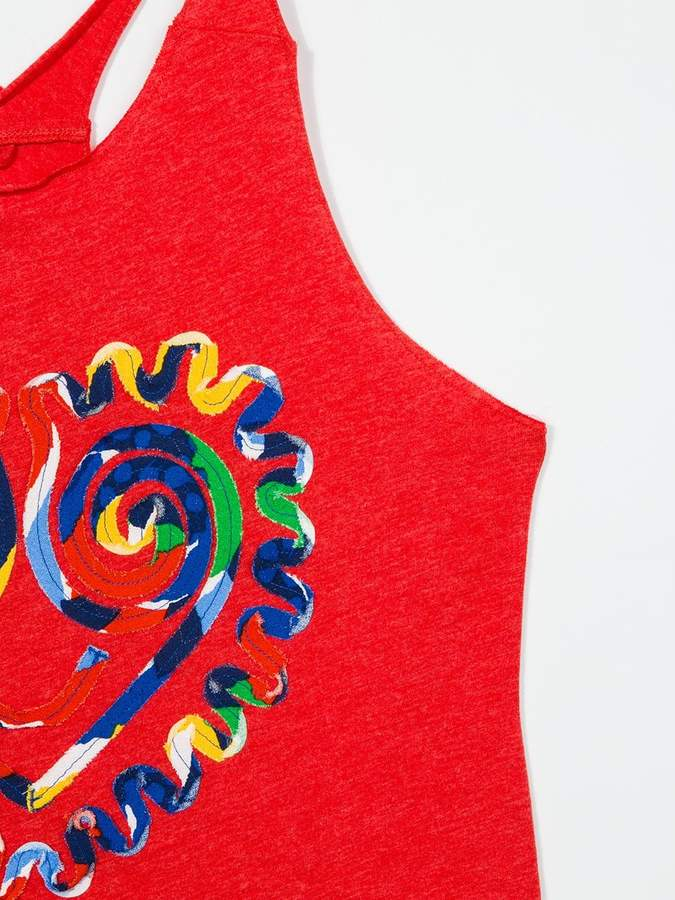 Stella McCartney heart print tank top
