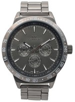 Geneva Platinum Men's Metallic Chronograph Dial Link Watch