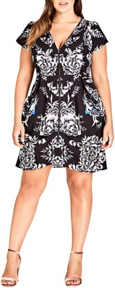 City Chic Mirror Power Dress