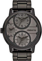 Claiborne Mens Oversized Dial Black Watch