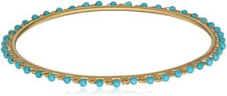 Satya Jewelry Women's Turquoise Gold Wrapped Bangle Bracelet