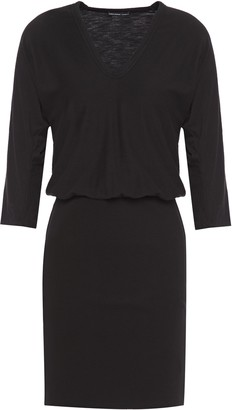 James Perse Ribbed And Slub Stretch-cotton Jersey Mini Dress