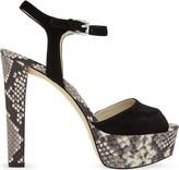 MICHAEL Michael Kors Trish snake-embossed leather heeled sandals