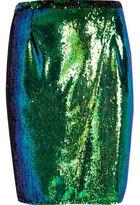 River Island Womens Plus emerald green sequin pencil skirt