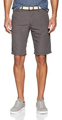 Tom Tailor Men's Slim Chino Shorts Yd Belt Dark Raven Grey 2151, 28 (Size: XX-Large)