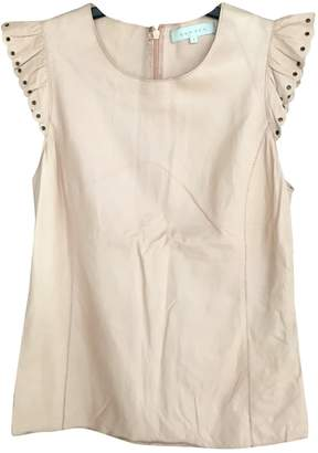 Sandro Pink Leather Top for Women