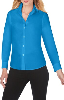Foxcroft Diane Solid Button-Up Shirt