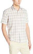 Van Heusen Men's Short-Sleeve Desert Textures Small Plaid Shirt