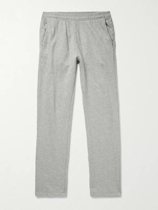 SAVE KHAKI UNITED Slim-Fit Melange Fleece-Back Cotton-Jersey Sweatpants