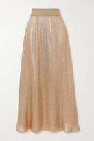 Thumbnail for your product : MARIE FRANCE VAN DAMME Lame Maxi Skirt - Gold