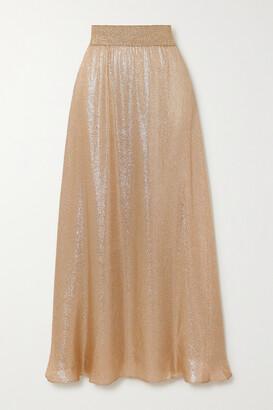 MARIE FRANCE VAN DAMME Lame Maxi Skirt - Gold