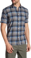 Lindbergh Worker Plaid Short Sleeve Regular Fit Shirt