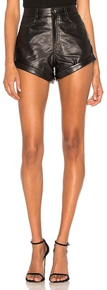 LPA Leather Relaxed Cuff Short