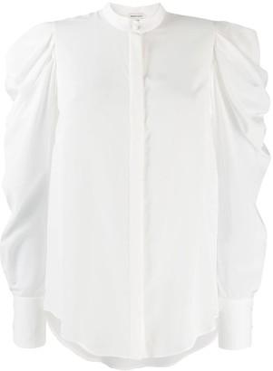 Alexander McQueen Puffed-Sleeve Shirt