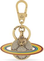 Gucci Rainbow Saturn GG Supreme keyring
