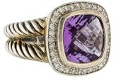 David Yurman Amethyst & Diamond Albion Ring