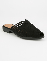 Qupid Woven Womens Mules
