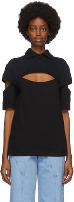 BARRAGAN Black and Navy Bruja Polo Shirt