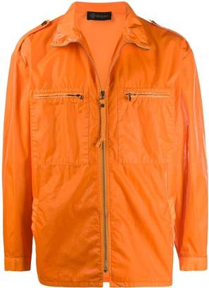 Mr & Mrs Italy Shiny Chest Pocketed Light Jacket