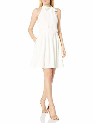 Vince Camuto Women's Bow Neck Fit and Flare Dress
