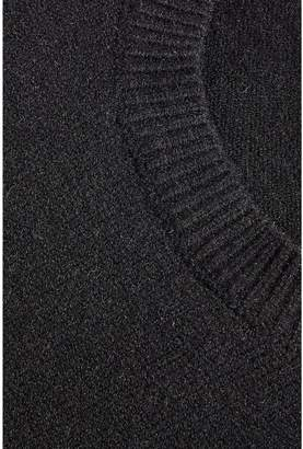 Quiz Knitted Long Sleeve Lace Hem And Cuff Jumper - Black
