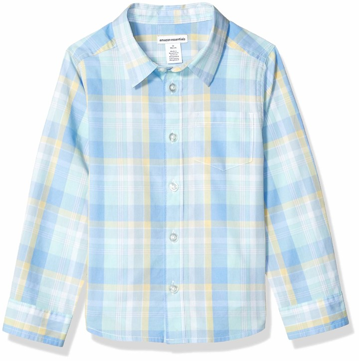 Amazon Essentials Long-sleeve Poplin/Chambray Shirt Button