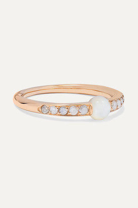 Pomellato M'ama Non M'ama 18-karat Rose Gold, Mother-of-pearl And Diamond Ring