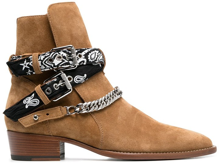 Amiri Buckle-Fastening Leather Boots