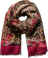 Dolce & Gabbana Leopard Print Silk & Cashmere-Blend Scarf