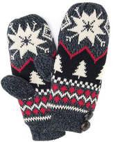 Muk Luks Women's Snowflake Nordic Mitten