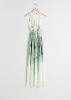 And other stories Semi Sheer Watercolour Maxi Dress