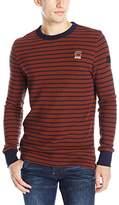G Star Men's Classic Kylio Submarine Stripe Long-Sleeve Waffle Shirt