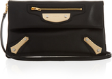 Balenciaga Metal Plate envelope leather clutch