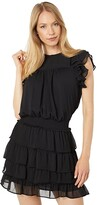 Thumbnail for your product : 1 STATE Shirred Yoke Tiered Skirt Dress
