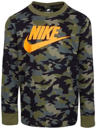 Nike Boys 4-7 Long Sleeve Graphic Tee