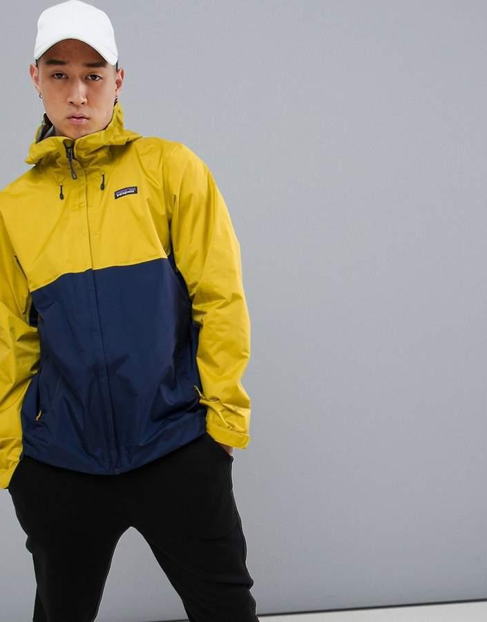 Patagonia Torrentshell Jacket in Yellow/Blue
