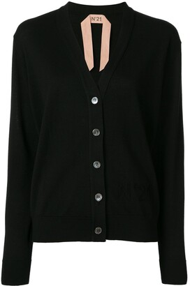 No.21 V-Neck Logo Cardigan