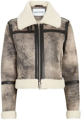 Stand Lorelle Cropped Faux Shearling Jacket