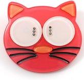 Avalaya Funky Plastic Cat Brooch