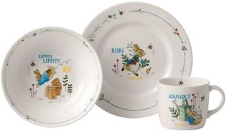Wedgwood Peter Rabbit Plate, Bowl & Mug 3pc Set Blue