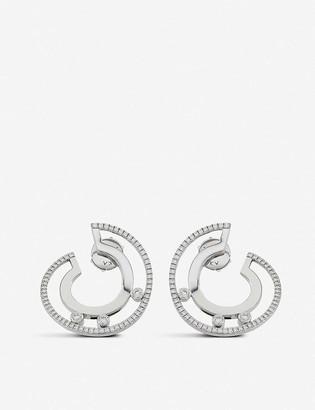 Messika Move Romane 18ct white-gold and diamond earrings