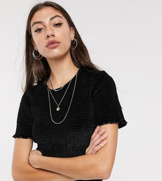 Asos DESIGN Tall t-shirt in velvet with short sleeve