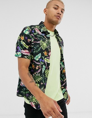 Bolongaro Trevor floral short sleeve shirt-Black