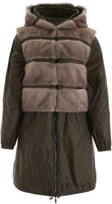 Mavina midi parka with vest