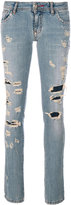 Philipp Plein distressed denim jeans